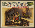 "Movie Posters:Animated, Snow White and the Seven Dwarfs (RKO, 1937). Lobby Card (11"" X14""). Animated Musical. Starring the voices of Adriana Caselo..."