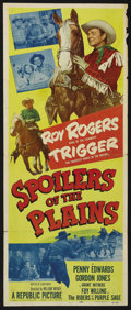 "Movie Posters:Western, Spoilers of the Plains (Republic, 1951). Insert (14"" X 36""). Western. Starring Roy Rogers, Trigger, Penny Edwards, Gordon Jo..."