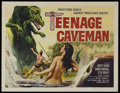 "Movie Posters:Science Fiction, Teenage Caveman (American International Pictures, 1958). Half Sheet(22"" X 28""). Science Fiction. Starring Robert Vaughn, Da..."