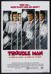"Trouble Man (20th Century Fox, 1972). One Sheet (27"" X 41""). Crime. Starring Robert Hooks, Paul Winfield, Ralp..."