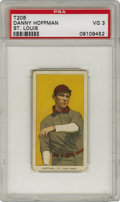 Baseball Cards:Singles (Pre-1930), 1909-11 T206 Danny Hoffman PSA VG 3. With centering above average for the T206 issue, the example we see here features St. ...