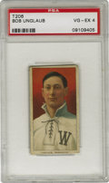 Baseball Cards:Singles (Pre-1930), 1909-11 T206 Bob Unglaub PSA VG-EX 4. One-time Boston Red Sox player-manager Bob Unglaub is the subject of the visually imp...