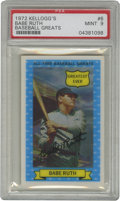 Baseball Cards:Singles (1970-Now), 1972 Kellogg's All-Time Greats Babe Ruth #6 Mint PSA 9. One of twoBabe Ruth cards from the 15-card 1972 Kellogg's All-Time...