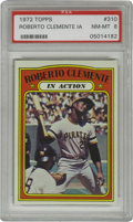 """Baseball Cards:Singles (1970-Now), 1972 Topps Roberto Clemente In Action #310 PSA NM-MT 8. Excellent""""In Action"""" entry from the '72 Topps issue featuring Pira..."""