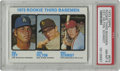 Baseball Cards:Singles (1970-Now), 1973 Topps Rookie 3rd Basemen #615 Cey/Hilton/Schmidt PSA NM-MT 8. The key to the '73 Topps set includes three rookie third...
