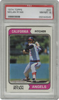 Baseball Cards:Singles (1970-Now), 1974 Topps Nolan Ryan #20 PSA NM-MT 8. The Strikeout King's highgrade entry from the 1974 Topps issue is offered here is a...