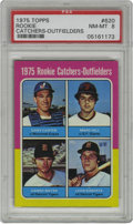Baseball Cards:Singles (1970-Now), 1975 Topps Rookie Catchers-Outfielders #620 PSA NM-MT 8.Outstanding high grade visual example up for grabs here featurest...