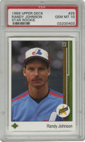 Baseball Cards:Singles (1970-Now), 1989 Upper Deck Randy Johnson Star Rookie #25 PSA Gem Mint 10. The Big Unit is represented here with this exceptional Gem M...