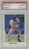 Baseball Cards:Singles (1970-Now), 1990 Leaf Sammy Sosa #220 PSA Gem Mint 10. One of the many stars toemerge at baseball's top level as the 1980s came to a c...