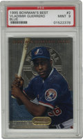 Baseball Cards:Singles (1970-Now), 1995 Bowman's Best Vladimir Guerrero Blue #2 PSA Mint 9. Stunninglook at the teenage rookie Vladimir Guerrero as this card...