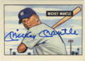 Autographs:Sports Cards, Mickey Mantle Signed Replica Card. Iconic for both its unbeatable design as well as its status as the only recognized rooki...