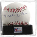Autographs:Baseballs, Mel Allen Single Signed Baseball, PSA NM-MT+ 8.5. The Hall of Famesportscaster Mel Allen, who was the first voice of Thi...