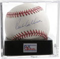 Autographs:Baseballs, Richie Ashburn Single Signed Baseball, PSA NM-MT+ 8.5. Hall of Famemember of the Whiz Kids Phillies provides an exceptiona...