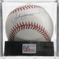 Autographs:Baseballs, Ander Dawson Single Signed Baseball, PSA Mint 9. Outstandingfree-swinging slugger Andre Dawson makes the offered ONL (Cole...