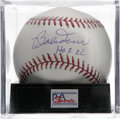 "Autographs:Baseballs, Bob Doerr ""HOF 86"" Single Signed Baseball, PSA Gem Mint 10. On thesame scouting trip that Eddie Collins signed Ted William..."