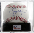 Autographs:Baseballs, Jason Giambi Single Signed Baseball, PSA Mint+ 9.5. 2000 AL MVPJason Giambi has established himself as one of the better l...