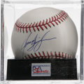 Autographs:Baseballs, Jason Isringhausen Signed Baseball, PSA Mint 9. Quirky pictureJason Isringhausen makes the offered ONL (Coleman) orb a col...
