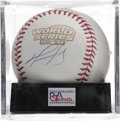 Autographs:Baseballs, David Ortiz Single Signed Baseball, PSA Mint 9. Official 2004 WorldSeries orb that we see here acts a the perfect canvas f...