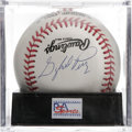 Autographs:Baseballs, Gaylord Perry Single Signed Baseball, PSA NM-MT+ 8.5. The firstpitcher to win the Cy Young Award in both leagues offers a ...
