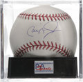 Autographs:Baseballs, Cal Ripken, Jr. Single Signed Baseball, PSA Mint 9. Mint singlehere courtesy of baseball's Iron Man and one of the finest ...