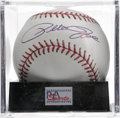 Autographs:Baseballs, Pete Rose Single Signed Baseball, PSA Mint+ 9.5. Reigning Hit KinPete Rose adds a high-quality sig to the sweet spot of th...