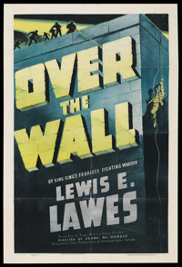 """Over the Wall (Warner Brothers, 1938). One Sheet (27"""" X 41""""). Prison Drama"""