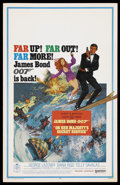 "Movie Posters:James Bond, On Her Majesty's Secret Service (United Artists, 1969). Window Card(14"" X 22""). James Bond. ..."