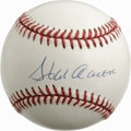 Autographs:Baseballs, Hank Aaron Single Signed Baseball. Hammerin' Hank Aaron has leftthe provided ONL (White) orb with high quality sweet spot ...