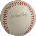 Autographs:Baseballs, Don Drysdale Single Signed Baseball. Light, but even toning affectthe OAL (Brown) orb we see here, but it does little to d...