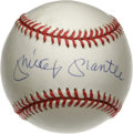 Autographs:Baseballs, Mickey Mantle Single Signed Baseball. An essential inclusion for any serious baseball collector, here we offer a high-quali...