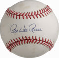 Autographs:Baseballs, Pee Wee Reese Single Signed Baseball. Despite some minor spots ofscattered foxing, this Pee Wee Reese single makes for a t...