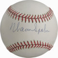 Autographs:Baseballs, Warren Spahn Single Signed Baseball. The clean ONL (White) orb thatwe see here makes for a perfect canvas for the HOF sign...