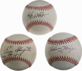 Autographs:Baseballs, Deceased St. Louis Cardinals Hall of Famers Single Signed BaseballsLot of 3. A fine trio of Hall of Fame talent is represe...