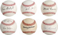 Autographs:Baseballs, 1940s-50s St. Louis Cardinals Single Signed Baseballs Lot of 21.Twenty-one vintage stars from the storied St. Louis Cardin...