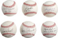 Autographs:Baseballs, 1980s-90s St. Louis Cardinals Single Signed Baseballs Lot of 12.From the modern stars of the St. Louis Cardinals organizat...