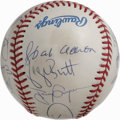 Autographs:Baseballs, 3,000 Hit Club Baseball Signed by 15. Superb theme baseball here offers signatures from 15 of the 26 men who have reached t...