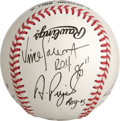 Autographs:Baseballs, St. Louis Cardinals Rookie of the Year Multi-Signed Baseball. All six of the St. Louis Cardinals who have earned the NL Roo...