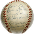 Autographs:Baseballs, 1948 St. Louis Cardinals Team Signed Baseball. Eddie Dyer's boysare represented here by this ONL (Frick) orb with 23 signa...