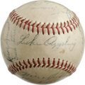Autographs:Baseballs, 1950s Minor League League Team Signed Baseball with Luke Appling.After his Hall of Fame stretch with the Chicago White Sox...