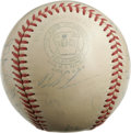 Autographs:Baseballs, 1950 Cleveland Indians Team Signed Baseball. The 1950 ClevelandIndians, led by HOF manager Lou Boudreau, are represented h...