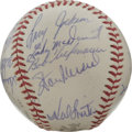 Autographs:Baseballs, 1961 St. Cardinals Team Signed Baseball. Twenty-two members of the'61 Cards check in here on this ONL (Giles) baseball, a...