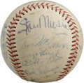 Autographs:Baseballs, 1966 St. Louis Cardinals Team Signed Baseball. Just one year awayfrom winning the title under Red Schoendienst's reign as ...