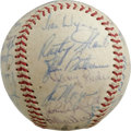 Autographs:Baseballs, 1967 Houston Astros Team Signed Baseball. Twenty-three members ofthe 1967 Houston Astros appear here of the offered ONL (G...
