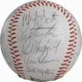 Autographs:Baseballs, 1976 California Angels Team Signed Baseball. Twenty-six signaturesfrom the '76 California Angels appear on the offered sou...