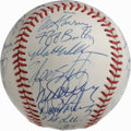 Autographs:Baseballs, 1990 NL All-Star Team Signed Baseball. Official orb from the 1990All-Star game played at Chicago's Wrigley Field seen here...