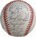 Autographs:Baseballs, 1993 AL All-Star Team Signed Baseball. Camden Yards played host tothe 1993 Major League All-Star Game, which saw the AL si...