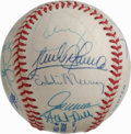 Autographs:Baseballs, 1995 Cleveland Indians Team Signed Baseball. The 1995 ClevelandIndians hit the 100-win plateau, good enough to win their d...