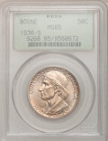 1936-S 50C Boone MS65 PCGS. PCGS Population (428/264). NGC Census: (360/259). Mintage: 5,006. Numismedia Wsl. Price for...