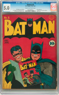 Golden Age (1938-1955):Superhero, Batman #8 (DC, 1942) CGC VG/FN 5.0 Cream to off-white pages....