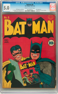 Batman #8 (DC, 1942) CGC VG/FN 5.0 Cream to off-white pages